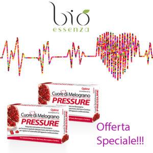 2 confezioni di Cuore di melograno Pressure Optima Naturals con immagine elettrocardiogramma